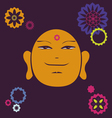 portrait of the Buddha meditative symbol of vector image