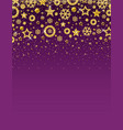 purple christmas card with frame of golden vector image vector image