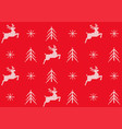 red seamless knitted pattern a christmas vector image