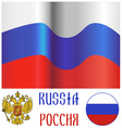 Russian flag and emblem vector image