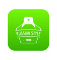 russian style icon green vector image vector image