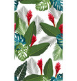 seamless pattern tropical leaves with ginger vector image vector image