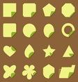 Set of vintage corner lebel icons vector image vector image