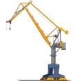 shipyard crane vector image