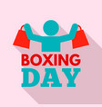 shopping boxing day logo set flat style vector image vector image