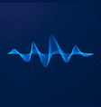 sound wave equalizer pattern abstract blue vector image