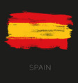 Spain colorful brush strokes painted national vector image