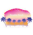 summer beach at sunrise or sunset vector image