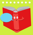 talking book vector image vector image