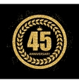 Template Logo 45 Years Anniversary vector image vector image