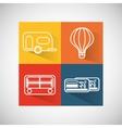 travel icon set design flat vector image vector image