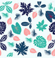 tropical plants leaves seamless pattern vector image vector image