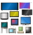TV screens vector image vector image