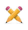 two crossed pencil vector image vector image