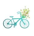 Vintage Summer Bike with Bunch of Flowers Card vector image vector image