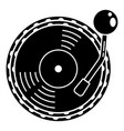 vinyl disc player icon simple style vector image vector image