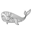 whale in entangle style vector image vector image