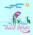 t shirt typography graphic with quote hello spring vector image