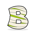 Letter B Monster zombie Alphabetical icon medical vector image