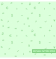 Seamless pattern with simple objects vector image