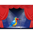 A parrot at the center of the stage vector image vector image