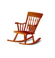 a rocking chair isolated on white background vector image vector image