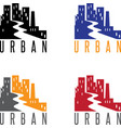 abstract icon design template of urban landscape vector image vector image