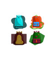 bag back to school set vector image vector image