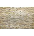 Beige brick wall with effect vector image vector image