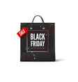 black friday sale advertisement banner black bag vector image vector image