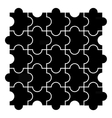 Black puzzle pieces vector image vector image