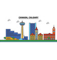 canada calgary city skyline architecture vector image vector image