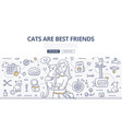 cats care doodle concept vector image
