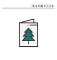 christmas card icon new year celebration vector image