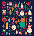 christmas funny collection vector image vector image