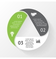 circle triangle infographic Template for diagram vector image vector image