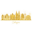 cologne germany city skyline silhouette with vector image vector image