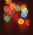 colorful bokeh vector image vector image