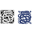 complex celtic symbol great for tattoo vector image vector image
