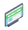 Computer monitor icon modern flat style vector image