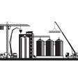 construction grain silo vector image vector image
