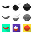 design taste and product logo vector image