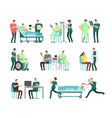 doctors medical nurse and patients in hospital vector image