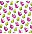 eggs painted happy easter pattern background vector image