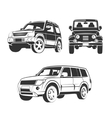 elements for off-road suv car emblems vector image vector image