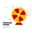 fortune wheel icon on memphis style background vector image