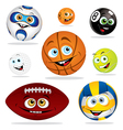 funny balls vector image vector image