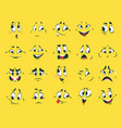 funny faces cartoon emotion expressions vector image vector image