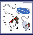 funny simple game for childen dot to dot vector image vector image