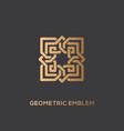 geometric emblem vector image vector image